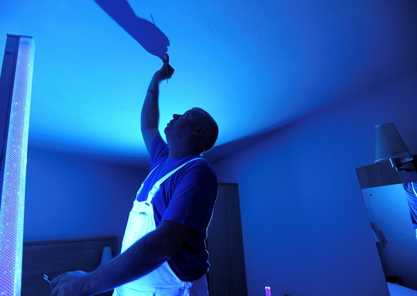 Night sky ceilings at travelodge art by caroline banks - Night sky painting on ceiling ...