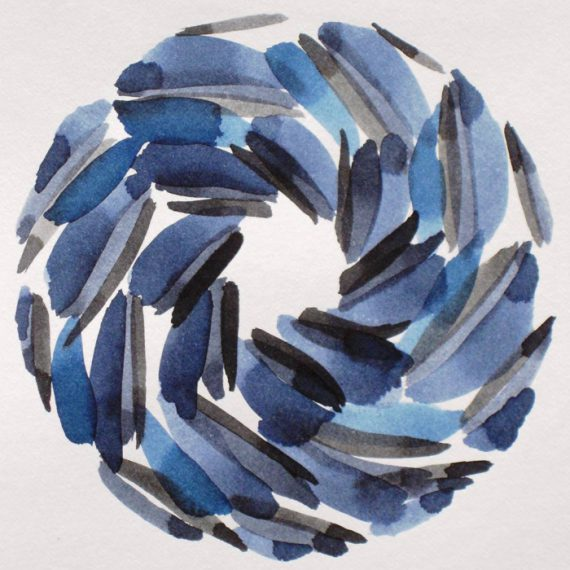 Gravitational painting by Caroline Banks