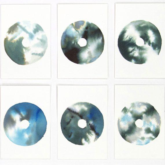 Twenty-five-Blue & black painting by Caroline Banks