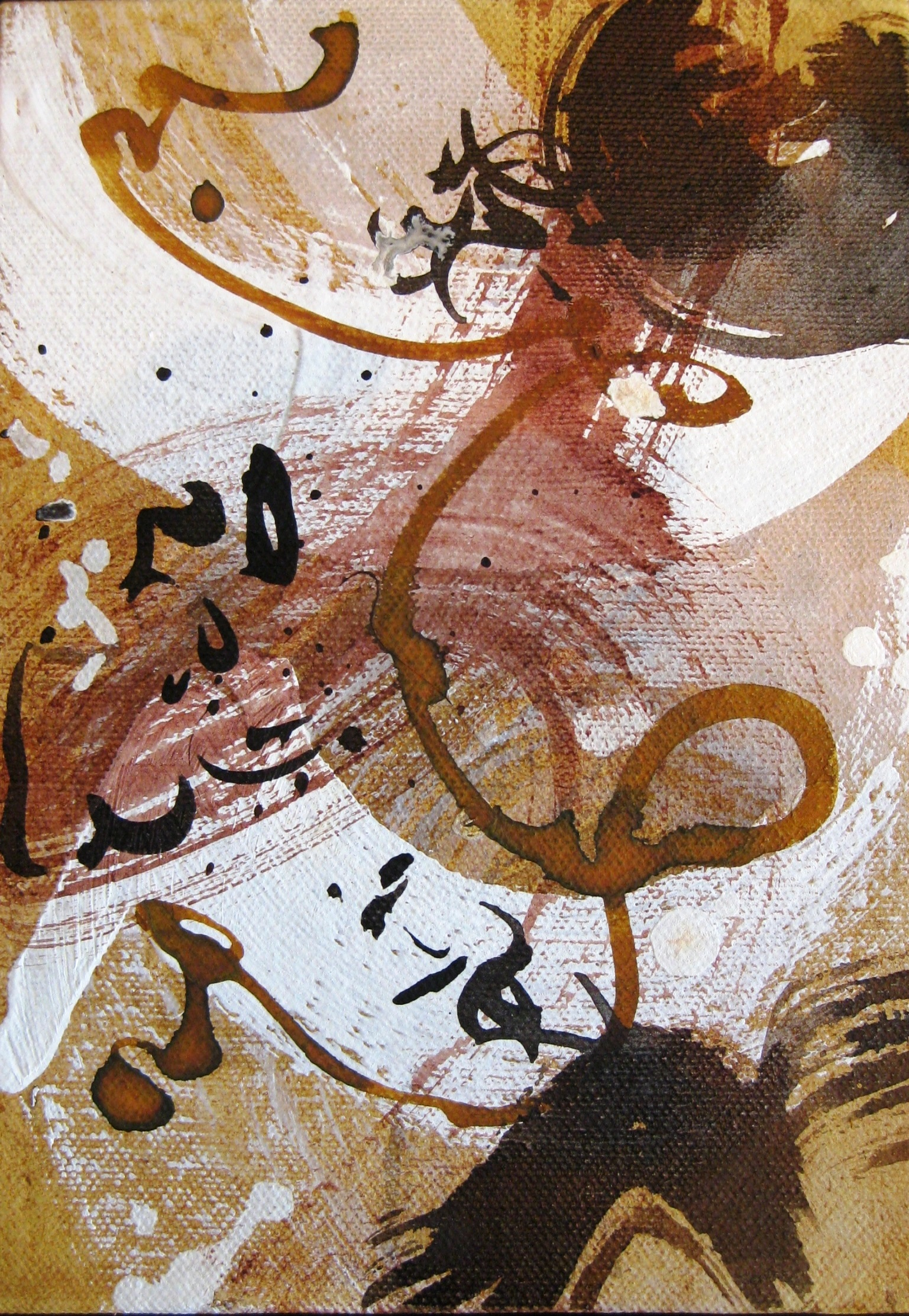 Caroline Banks Art - Transience study I - Gesso and ink on canvas board